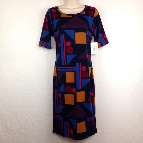 LuLaRoe Julia Geometric Sheath Dress 50b3ab2ee